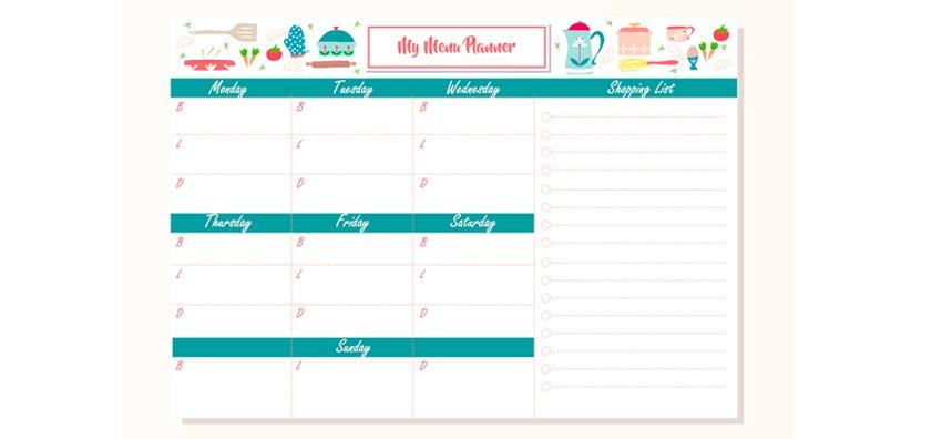 ejemplo planificacion menu cuarentena